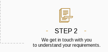 Step 2. We get in touch with you to understand your requirements.